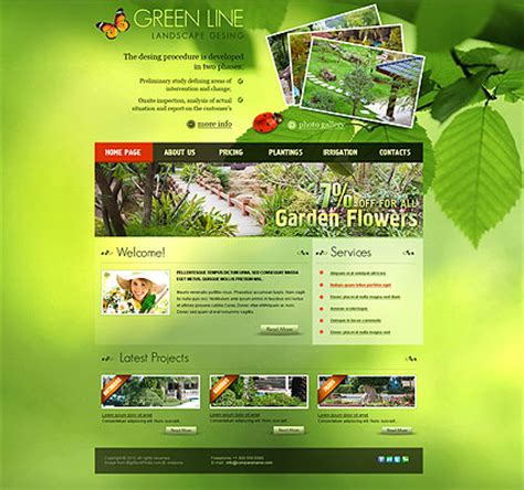 page layout css landscape landscape design html template id 300110978 from