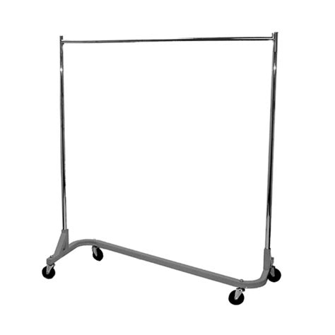 rolling garment rack rolling z racks store fixtures and supplies