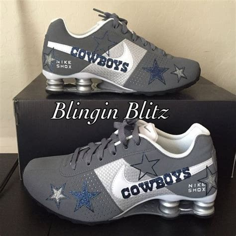 nike cowboy boots womens dallas cowboys nike shox by blinginblitz on etsy