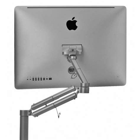secure imac to desk mantis height adjustable desk mount for your pc mac