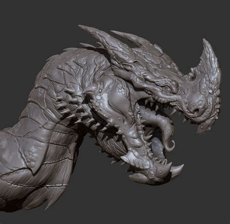 zbrush tutorial creature artstation red dragon oscar loris creature