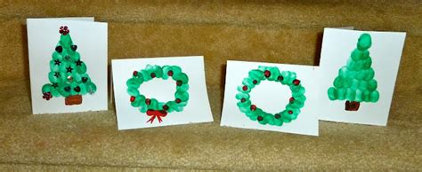 christmas cards ideas preschool crafty fingerprint cards for to make hoawg