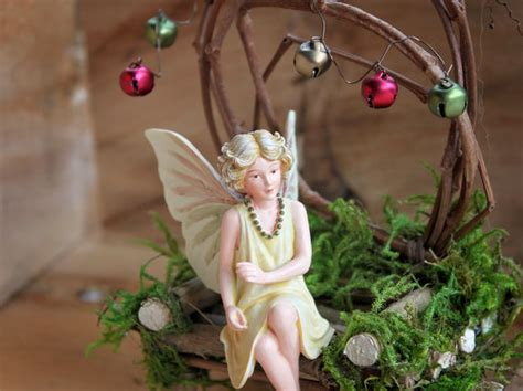 Handcrafted Fairies - with jingle chair handcrafted by olive chair fae