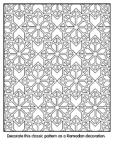islamic mosaic coloring pages islamic patterns coloring page crayola com