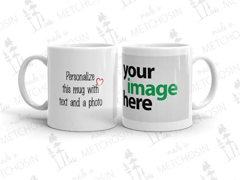 text and photo mug made in metchosin