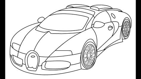 bugatti drawing how to draw a bugatti veyron step by step for kids youtube