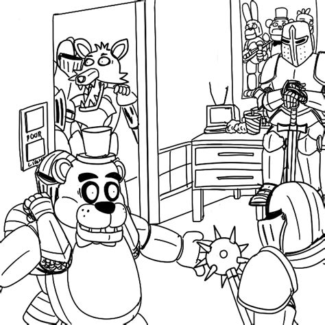 five nights at freddy s coloring book mega coloring book fnaf exclusive work books free coloring pages of 5 nights of freddy