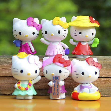 mini hello figures toys lovely summer style hello pvc figures toys figurines