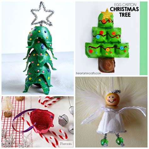 4h christmas tree from old egg carton winter egg crafts for crafty morning