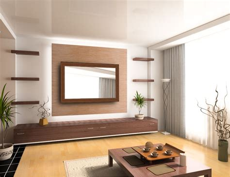 Japanese architecture featuring mirror television