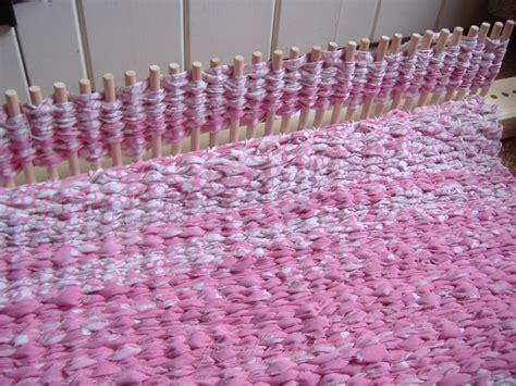 how do knitting looms work peg loom rug work in progress peg loom weaving and
