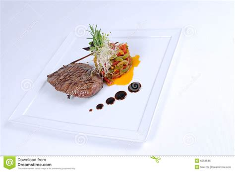 Nature Stek Terbaru plate of dining meal ostrich fillet salad royalty