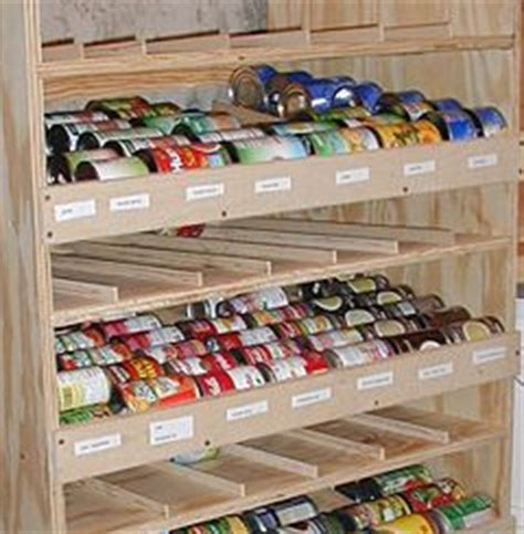 How To Build A Food Pantry build a rotating shelf to keep canned goods at