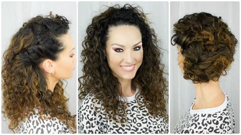 quick easy curly hairstyles youtube