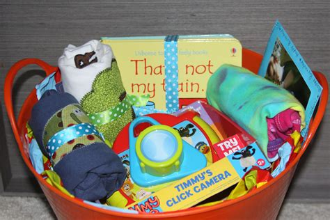 Handmade 1st Birthday Gifts - simple gift basket for a birthday and getting your