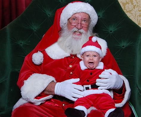 imagenes santa claus real santa and unhappy cer