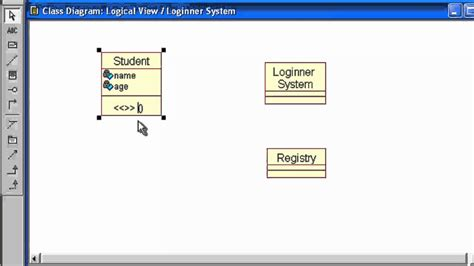 membuat uml dengan rational rose how to create class diagram in rational rose youtube