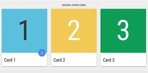 id card html css template 10 material design cards for web in css html