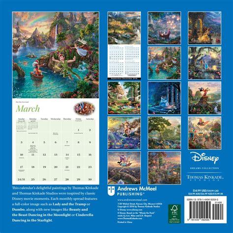 kinkade disney collection  wall calendar