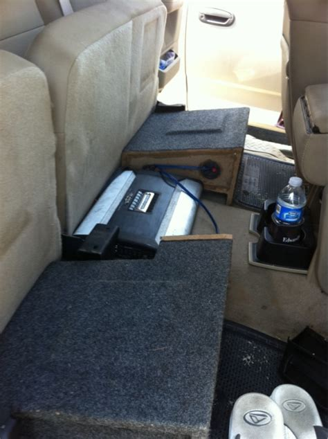 subs truck seat subwoofer box rear seat ford f150 forum