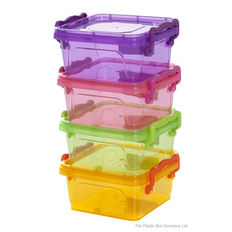 storage containers small buy 350ml small square plastic storage box with clip on