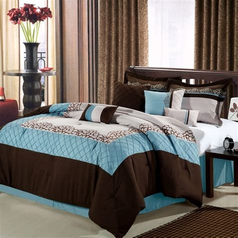 Luxury Bed In A Bag Comforter Sets 8pc Luxury Bedding Set Mustang Blue Brown Beige Bed Sheet Pillows Bed In A Bag What S It Worth