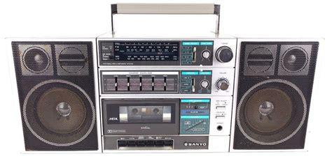 sanyo c30 boombox ghettoblaster retro radio cassette
