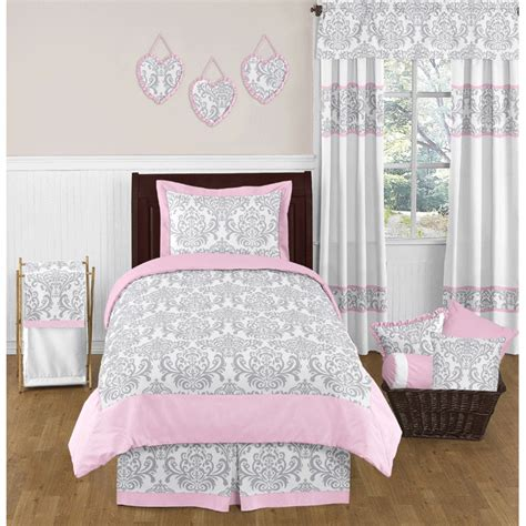 sweet jojo bedding sweet jojo designs elizabeth grey pink twin bedding set