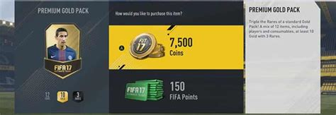 Ultimate Prizes fifa points prices for fifa 17 ultimate team and packs prices