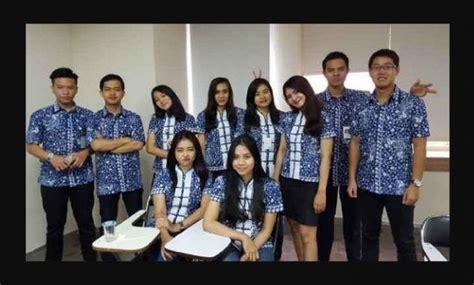 Batik Lonceng Larasati model seragam baju batik pegawai bank bca dari pekalongan