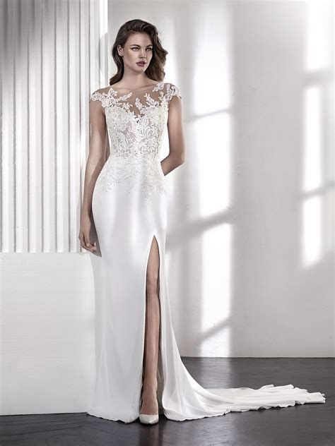 Wedding Dresses Lacy by Mermaid Wedding Dress With Illusion Neckline And