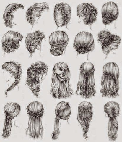 simple hairstyles drawing 17 best ideas about drawing hair on pinterest drawing