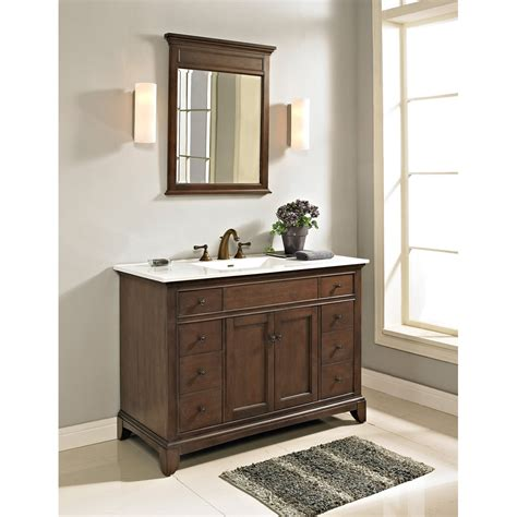 fairmont designs 48 quot smithfield vanity with integrated sink option mink free shipping