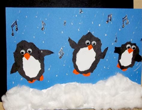 penguin arts and crafts projects penguin glitter