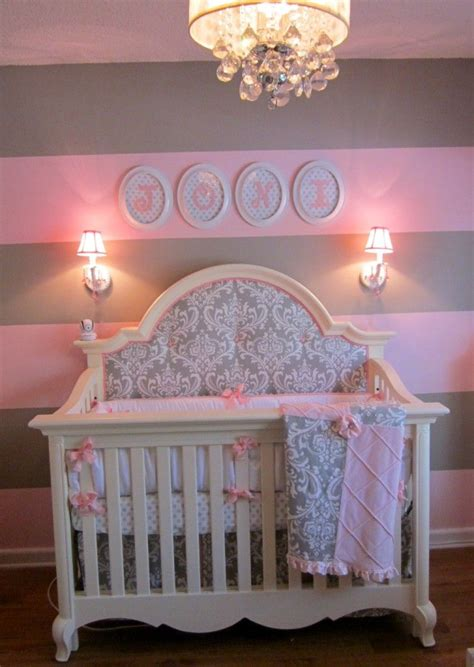 Gray And Pink Nursery Decor Baby Nursery Decor Astounding Creation Pink And Grey Baby Nursery Lighting Mounted Wallpaper