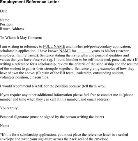 Mortgage Reference Letter From Employer employment reference letter doc for free
