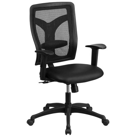 Chair Seat Height Images High Back Designer Back Task Chair With Adjustable Height Arms And Leather Seat Ebay