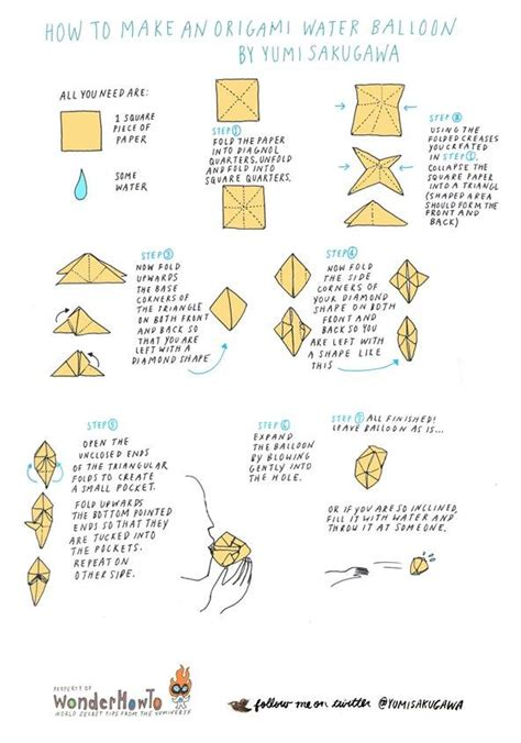 how to make an origami water balloon 171 the secret yumiverse
