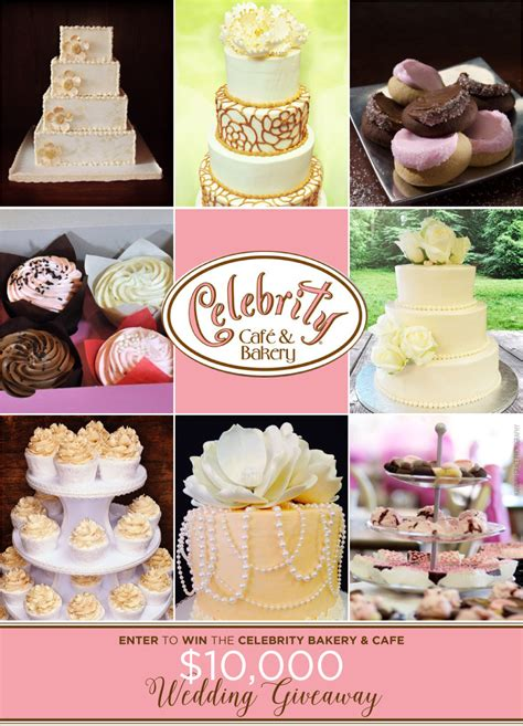 Celebrity Giveaways - celebrity cafe bakery wedding giveaway