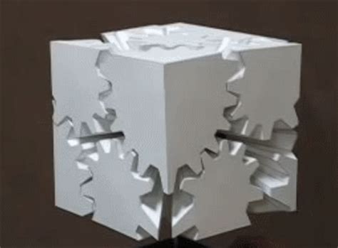 How To Make Paper Gears - this cube made of gears shouldn t work but it does