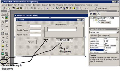 mostrar imagenes visual basic conexion a mysql con visual basic 6 0 usando objetos ado
