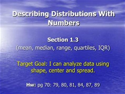 section 80 meaning ppt describing distributions with numbers center