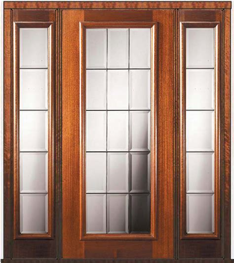 Prehung Sidelights Door 80 Wood Mahogany French Full Lite Patio Doors With Sidelights