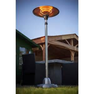 La Hacienda Patio Heater La Hacienda Standing Halogen Electric Patio Heater Garden Heaters