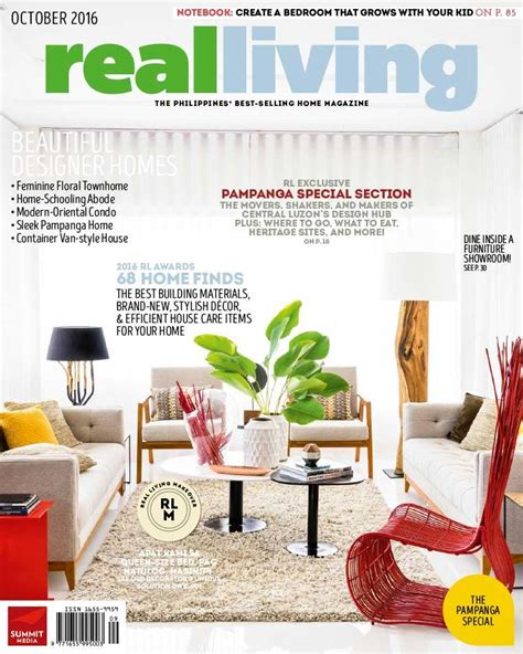 real living philippines magazine october 2016 gramedia