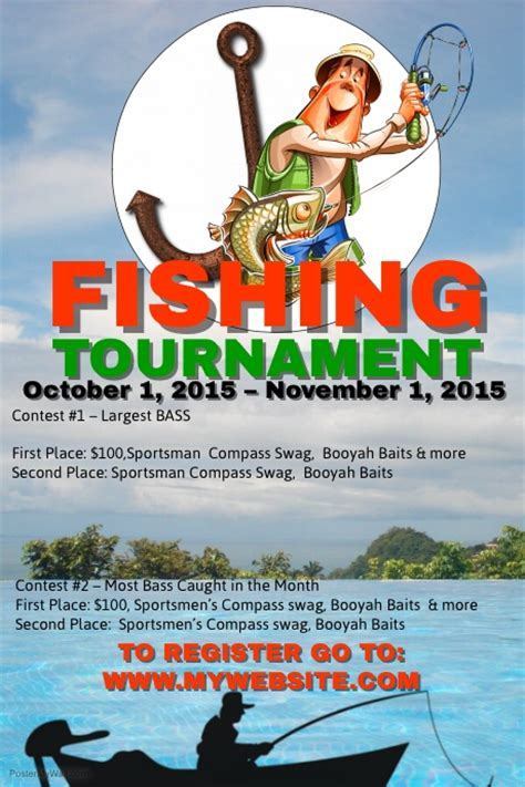 fishing tournament flyer template fishing tournament template postermywall