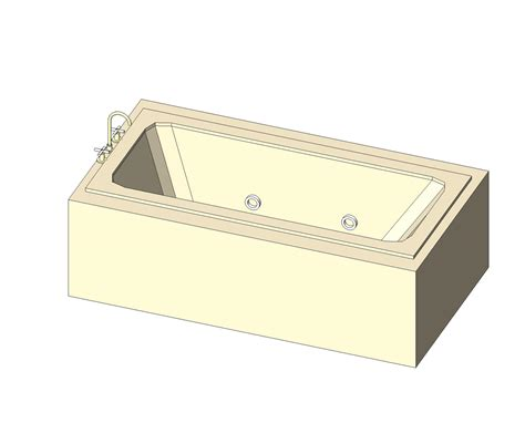 bathtub revit bim objects families