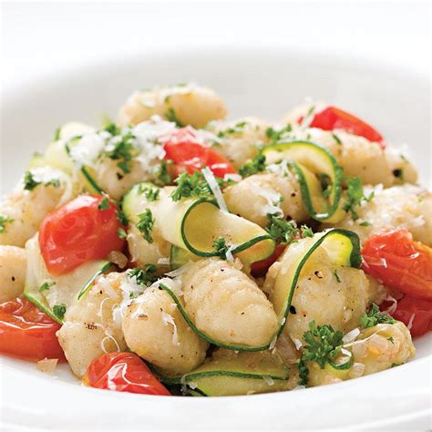 gnocchi with zucchini ribbons parsley brown butter recipe eatingwell