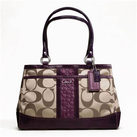 couch perses coach park signature stripe carryall pocketbooks