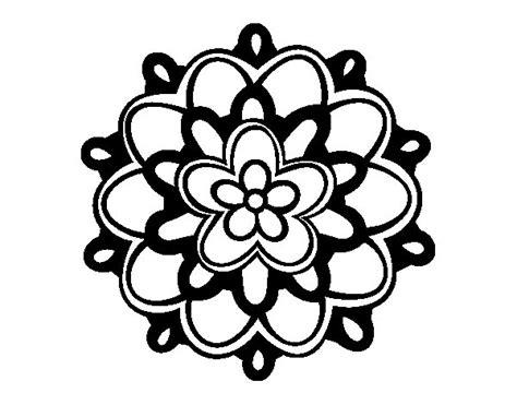 disegno di un fiore disegno di mandala un fiore da colorare acolore